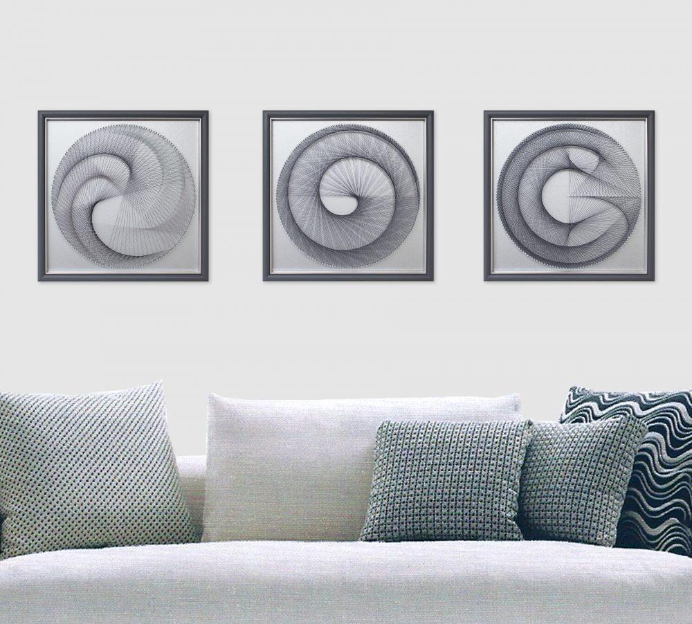 Zen Wall Decor in Silver Gray