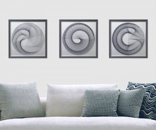 Zen Wall Decor in Silver Gray