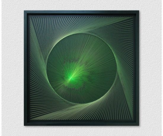 Neon Wall Art Green
