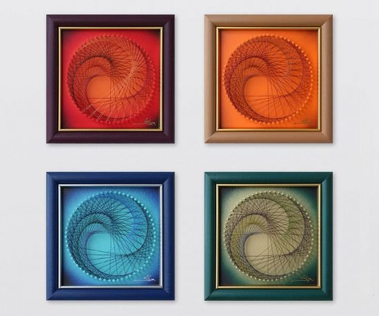 Multicolor Wall Art Set of 4