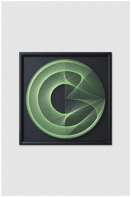 Neon String Art Geometric