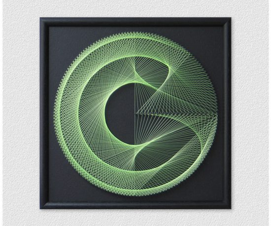 Black Green Wall Art Geometric