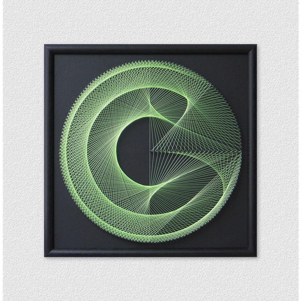 Black Green Wall Art Geometric