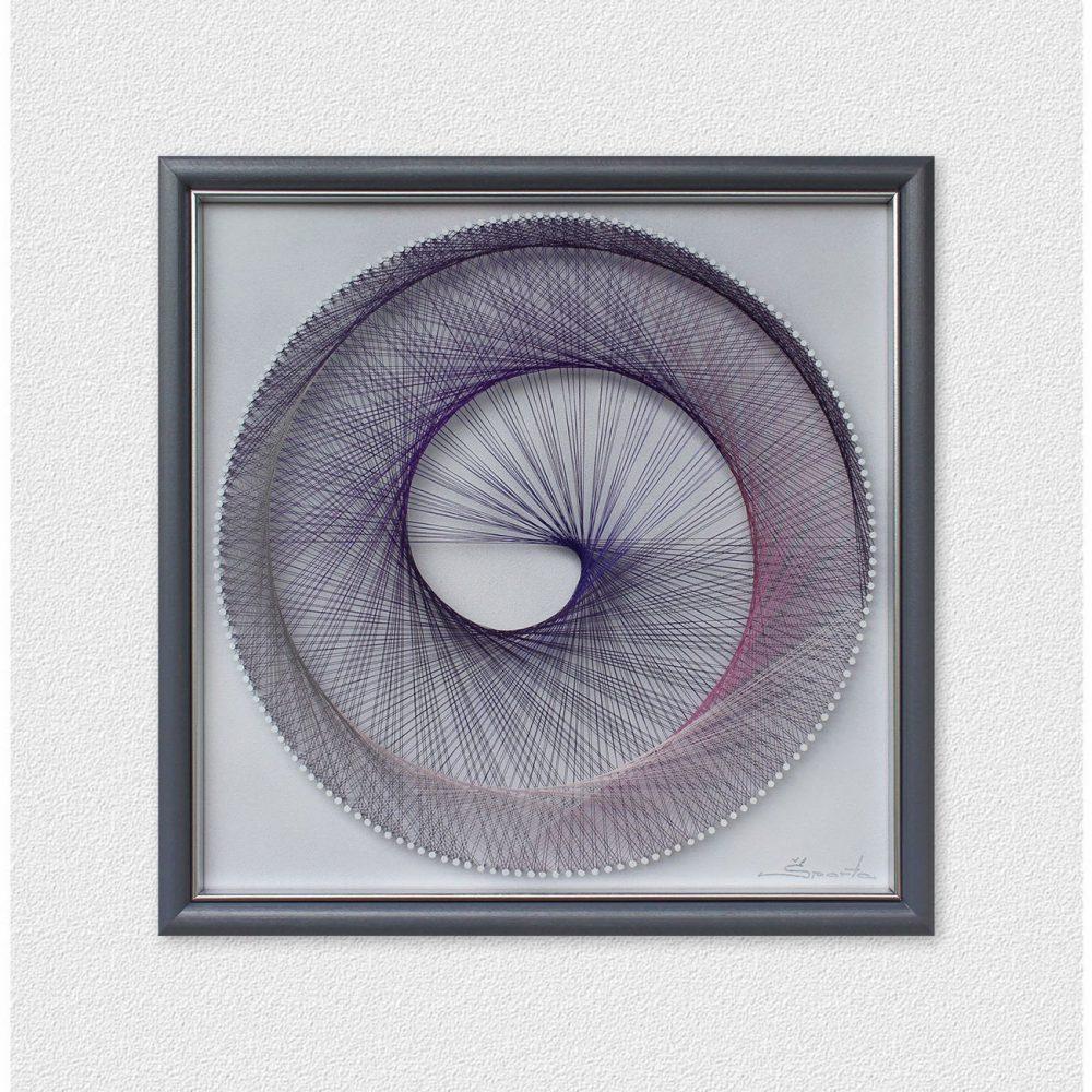Multicolor Spiral String Art