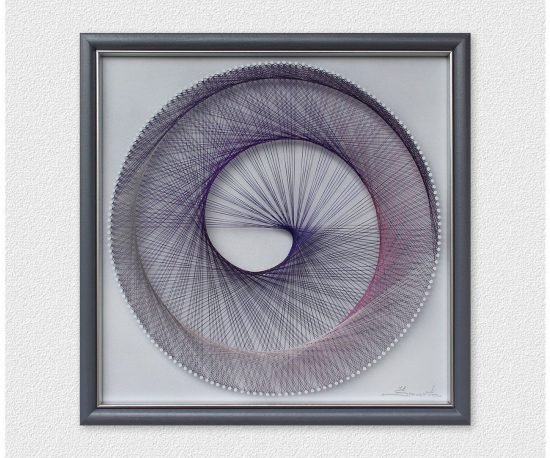Multicolor Spiral String Art
