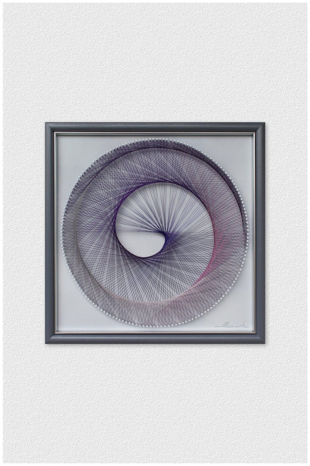 Wall Art Spiral Multicolor