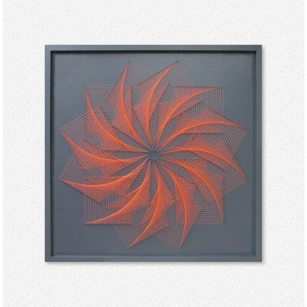 Wall Art Geometric Flower