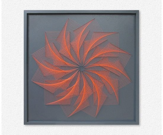 Wall Art Geometric Flower