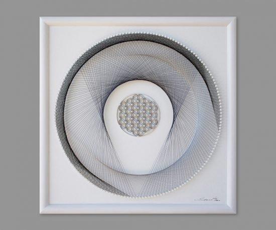 String Art Flower of Life White