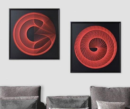 Neon Art Black Red