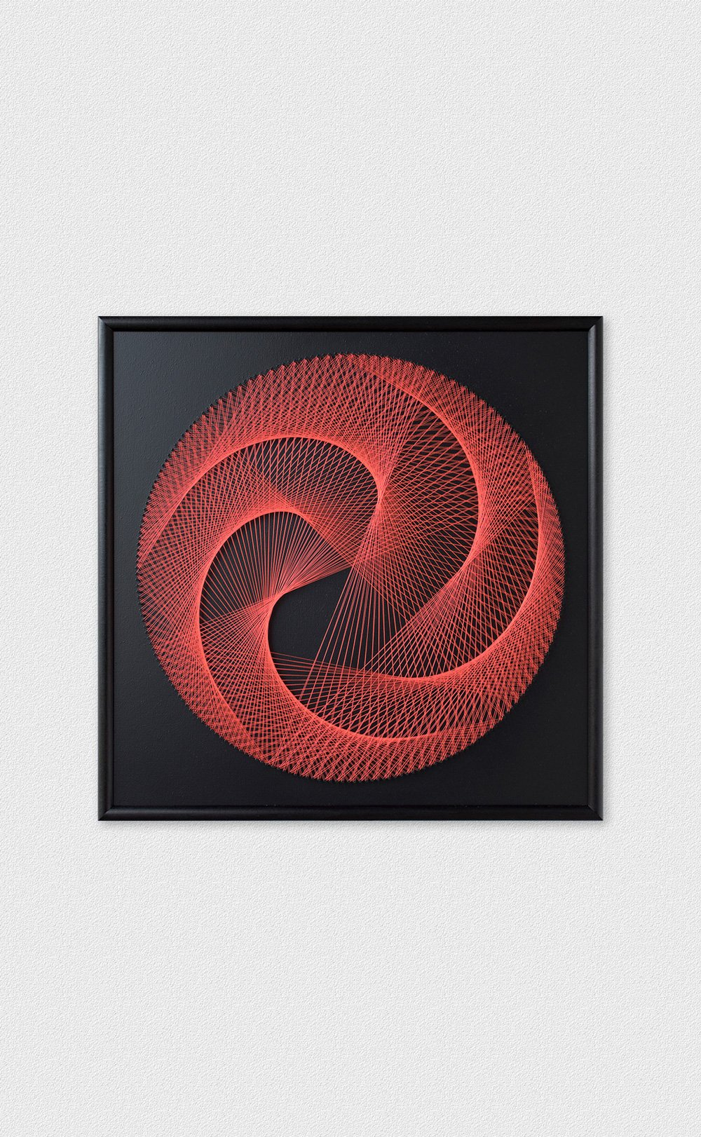 String Art Black Red