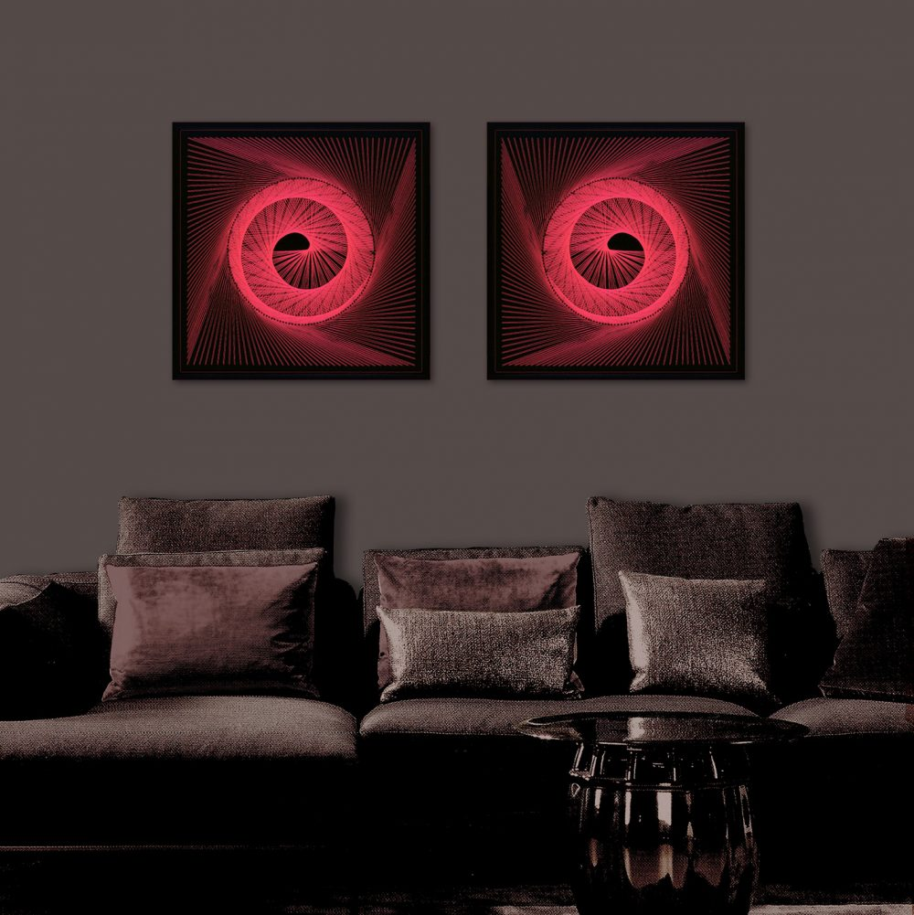 Black Light Art Red