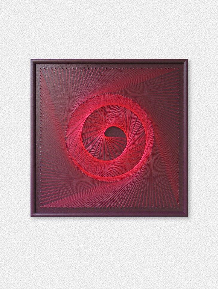 UV String Art Red Spiral