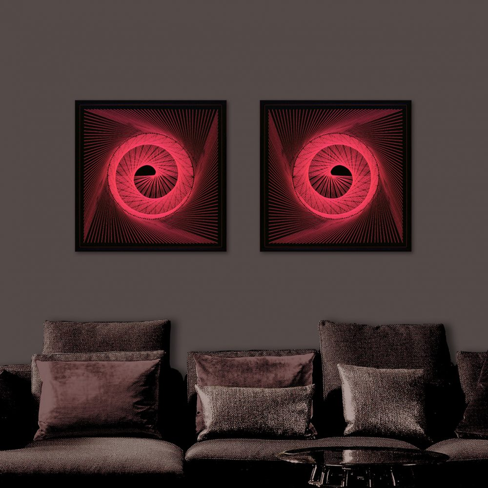 Neon Wall Art Red